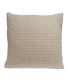 Mira Transitional Tan Pillow Cover with Polyester Insert