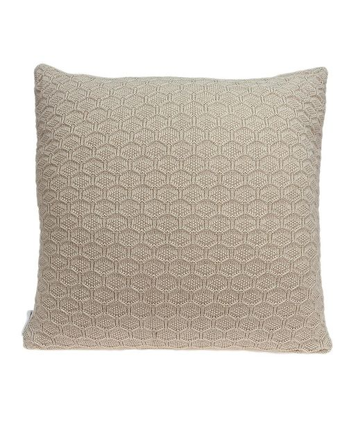 Parkland Collection Mira Transitional Tan Pillow Cover with Polyester Insert