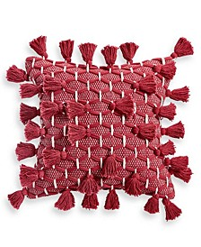 "CLOSEOUT! All Tassel 18"" x 18"" Decorative Pillow, Created for Macy's"