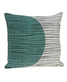 Linea Transitional Multicolor Pillow Cover With Down Insert