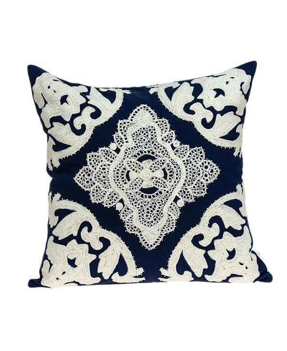 Parkland Collection Rani Traditional Blue Pillow Cover