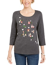 Studded Holiday Top, Created For Macy's