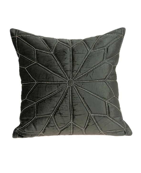 Parkland Collection Lolu Transitional Grey Pillow Cover With Down Insert