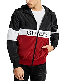 Men's Colorblocked Logo Windbreaker