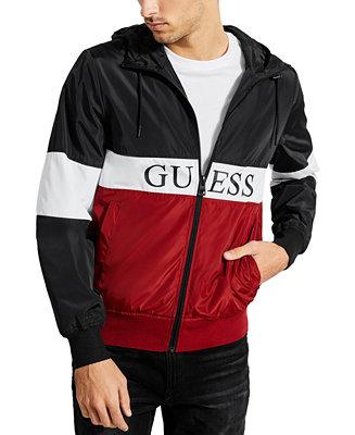 Höjd över havet fosterföräldrar skeppare  GUESS Men's Colorblocked Logo Windbreaker & Reviews - Coats & Jackets - Men  - Macy's