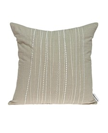 Sarina Transitional Beige Pillow Cover With Down Insert