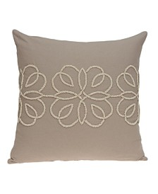 Parkland Collection Sutra Transitional Tan Pillow Cover With Poly Insert