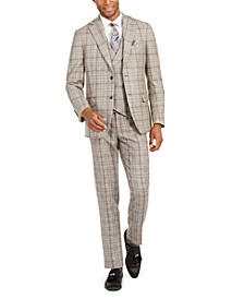 Men's Slim-Fit Plaid Flannel Suit Separates