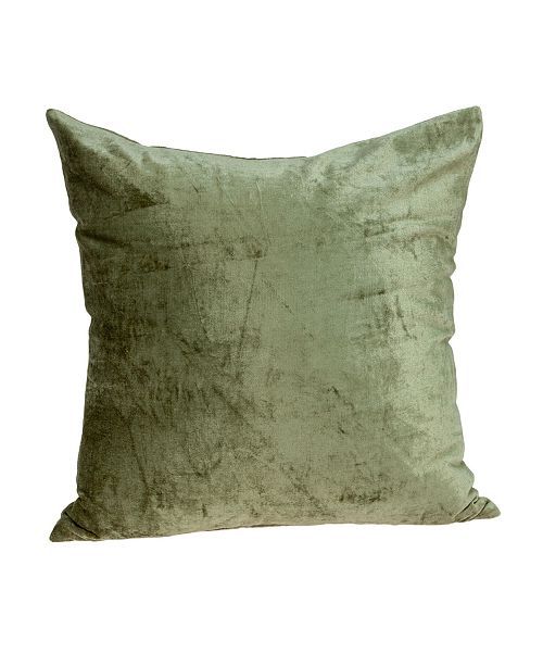 Parkland Collection Sphene Transitional Olive Solid Pillow Cover with Polyester Insert