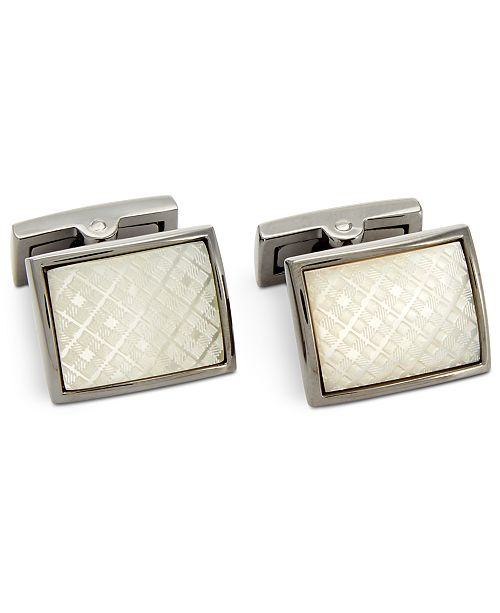 Ryan Seacrest Distinction Mother-Of-Pearl Cuff Links, Created For Macy's