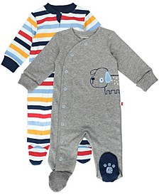 Baby Boy 2-Pack Footed Sleep and Plays