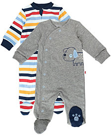 Mac & Moon Baby Boy 2-Pack Footed Sleep and Plays