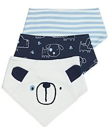 Baby Boy 3-Pack Bandana Bibs