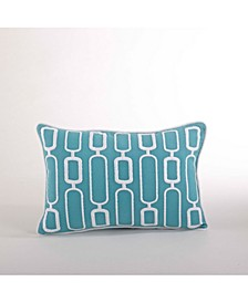 """Stitched Throw Pillow, 12"""" x 18"""""""
