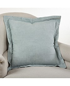 """Flanged Linen Throw Pillow, 20"""" x 20"""""""