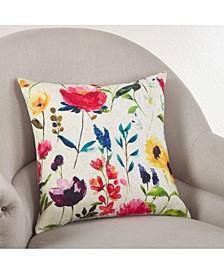 "Jardin Du Luxembourg Floral Pillow, 18"" x 18"""