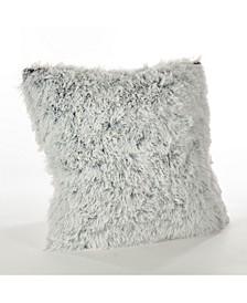 "Juneau Two-Tone Faux Fur Throw Pillow, 18"" x 18"""