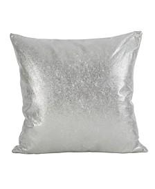 """Shimmering Metallic Design Throw Pillow, 20"""" x 20"""""""