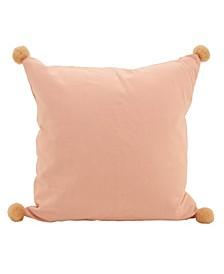 "Pom Pom Throw Pillow, 18"" x 18"""