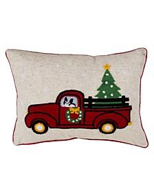 "retro Truck Design Christmas Throw Pillow, 14"" x 20"""