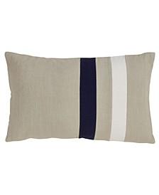 """Cotton Double Stripe Design Throw Pillow, 12"""" x 20"""""""