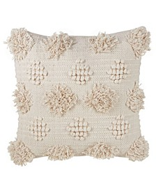 """Moroccan Tufted Throw Pillow, 18"""" x 18"""""""