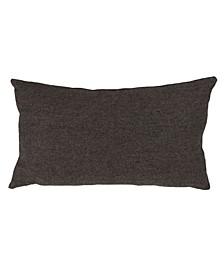 "Wool Blend Herringbone Accent Pillow, 12"" x 20"""
