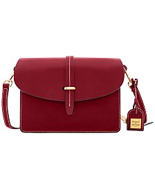 Dooney & Bourke Selleria Leather Flap Crossbody