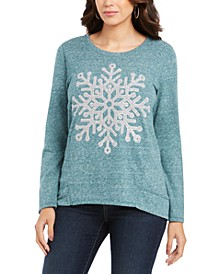 Petite Snowflake-Graphic Sweatshirt, Created For Macy's