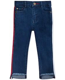 Baby Girls Side-Stripe Step-Hem Skinny Jeans