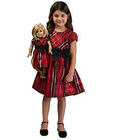 Bonnie Jean Toddler Girls 2-Pc. Plaid Bow Dress & Doll Dress Set