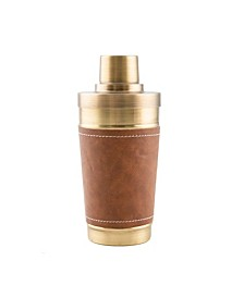 Antique Gold and Leather Shaker