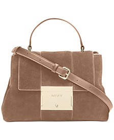 Adam Leather Top Handle Satchel, Created for Macy's