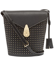 Lock Leather Bucket Bag
