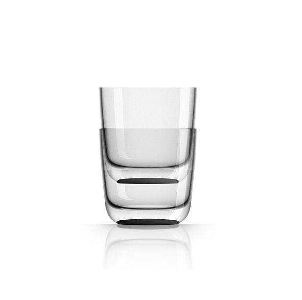 Marc Newson by Palm Tritan Whisky Tumbler with black non-slip base, Set of 2