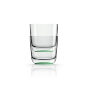 Marc Newson by Palm Tritan Whisky Tumbler with Green non-slip base, Set of 2