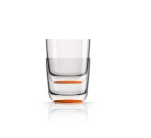 Marc Newson by Palm Tritan Whisky Tumbler with Orange non-slip base, Set of 2