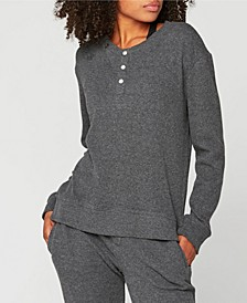 Button-Up Thermal Long Sleeve Shirt