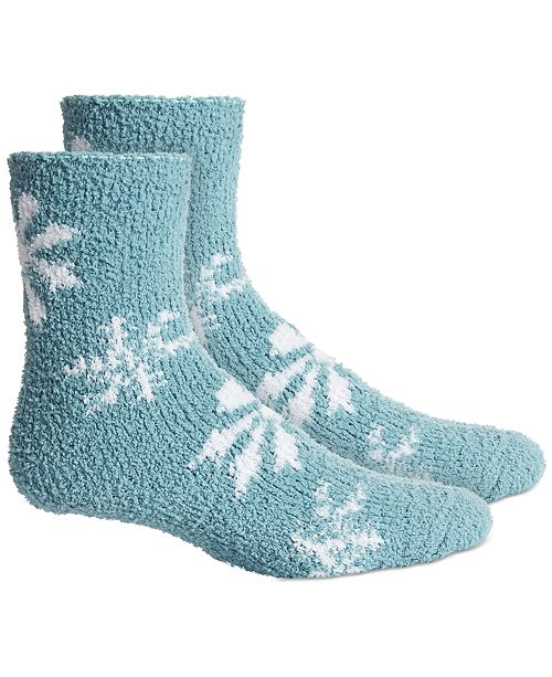 Charter Club Snowflake Super Soft Butter Crew Socks, Created For Macy's