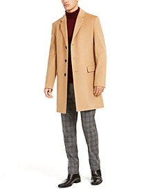HUGO Men's Migor Slim-Fit Cashmere Overcoat