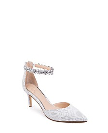 Jewel Badgley Mischka Raleigh Ornamented Pumps