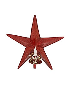 Iron Star Wall Decor with Led Candle