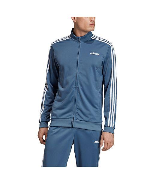 adidas Men's 3 Stripe Tricot Track Jacket & Reviews Coats