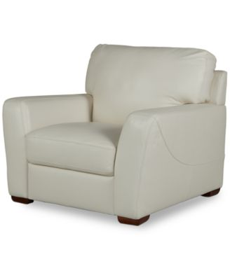 """Jaspene 43"""" Leather Arm Chair, Created for Macy's"""
