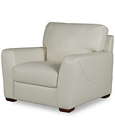 "Jaspene 43"" Leather Arm Chair, Created for Macy's"