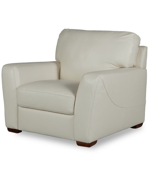 "Furniture Jaspene 43"" Leather Arm Chair, Created for Macy's"