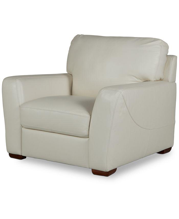 "Furniture - Jaspene 43"" Leather Arm Chair"
