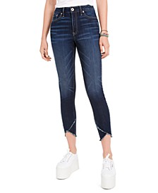 Juniors' High-Rise Raw-Edge Skinny Jeans, Created For Macy's