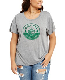 Trendy Plus Size Smokey Bear Graphic-Print T-Shirt