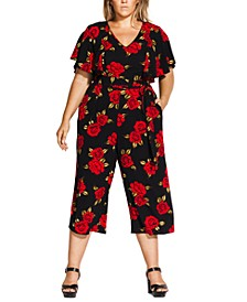 Trendy Plus Size Rose Liaison Jumpsuit